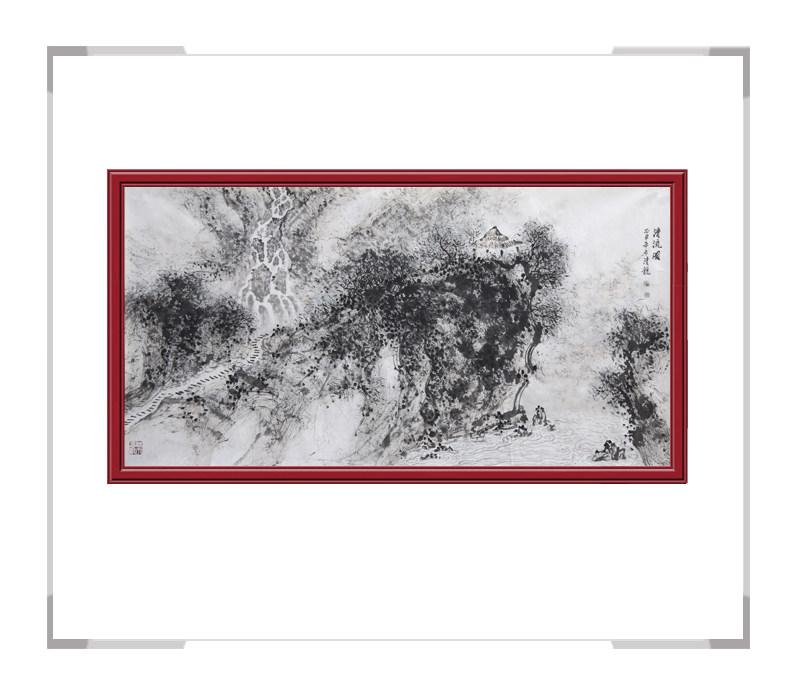 中国美协会员季清龙老师作品-横幅山水画第一款
