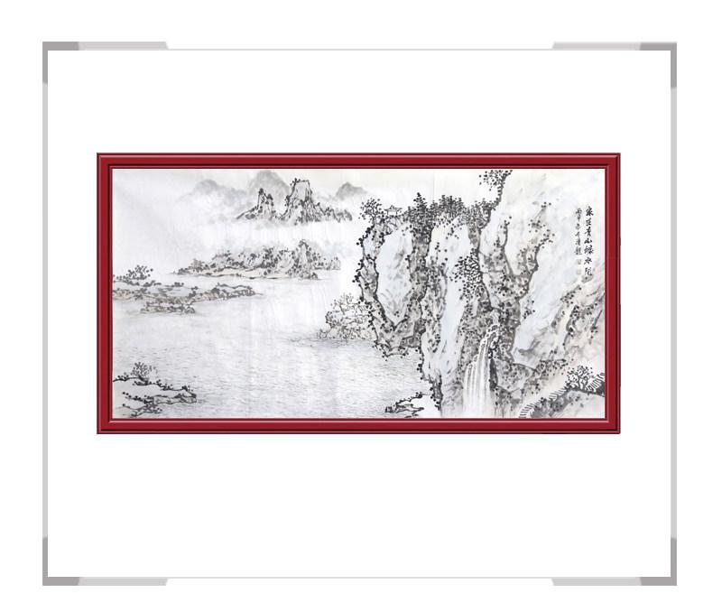 中国美协会员季清龙老师作品-横幅山水画第二款