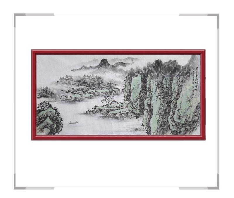 中国美协会员季清龙老师作品-横幅山水画第三款