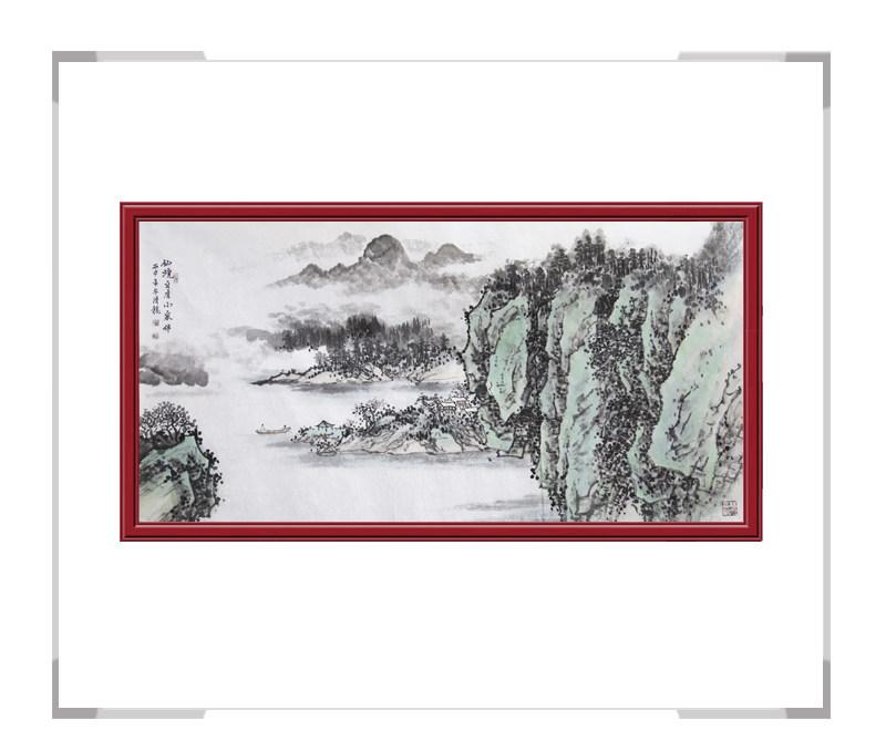 中国美术家协会会员季清龙-山水作品横幅第一款