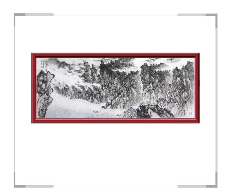 中国美术家协会会员季清龙-山水作品横幅第二款