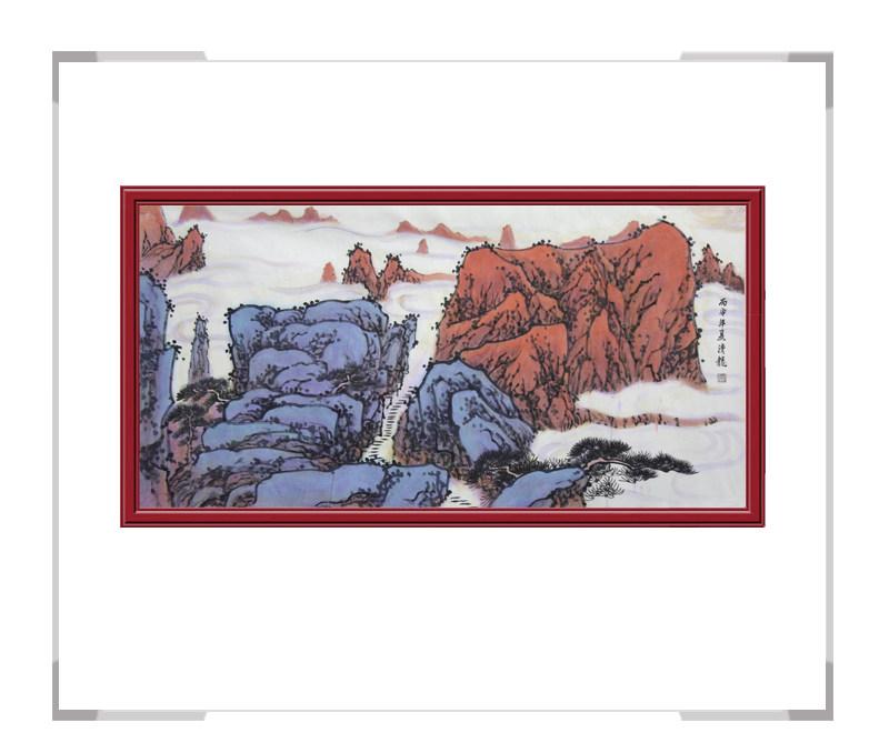 中国美术家协会会员季清龙-山水画横幅第二款