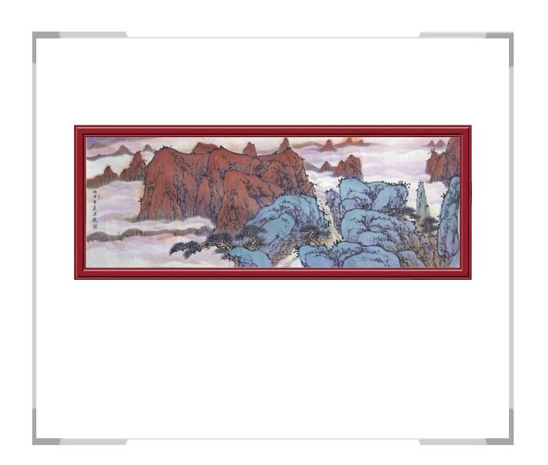 中国美术家协会会员季清龙作品-山水画横幅一