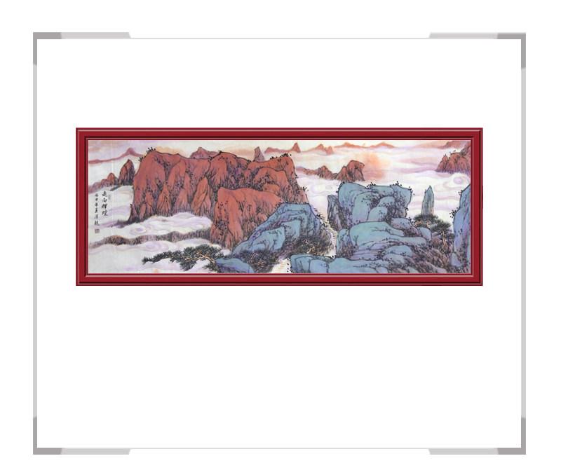 中国美术家协会会员季清龙作品-山水画横幅二
