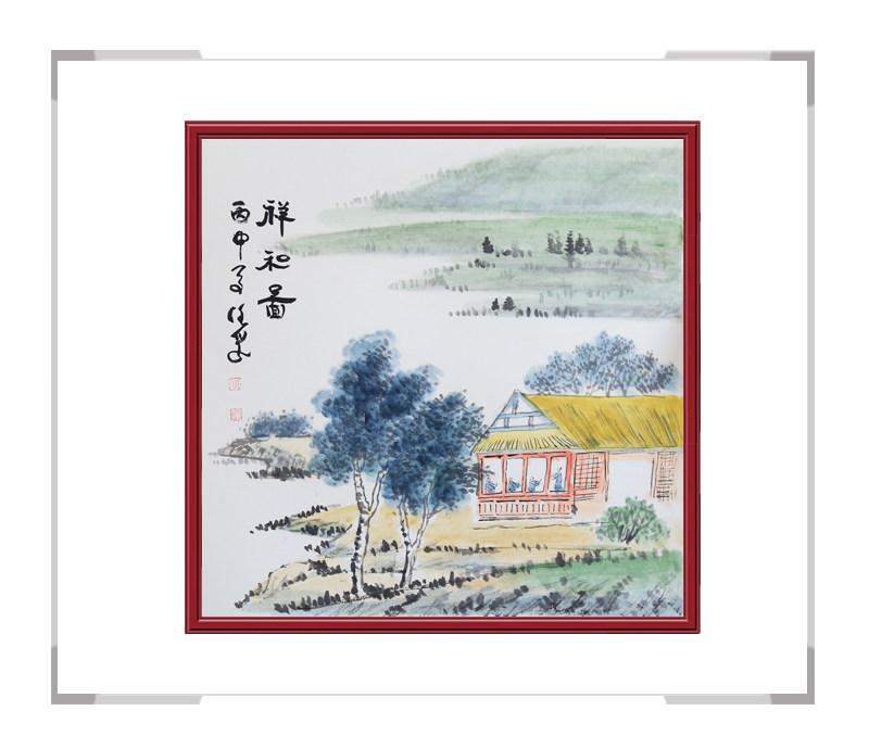 中国美术家协会画家李任孚-斗方山水作品三