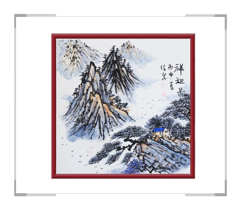 中国美术家协会会员李任孚-山水画斗方第二款