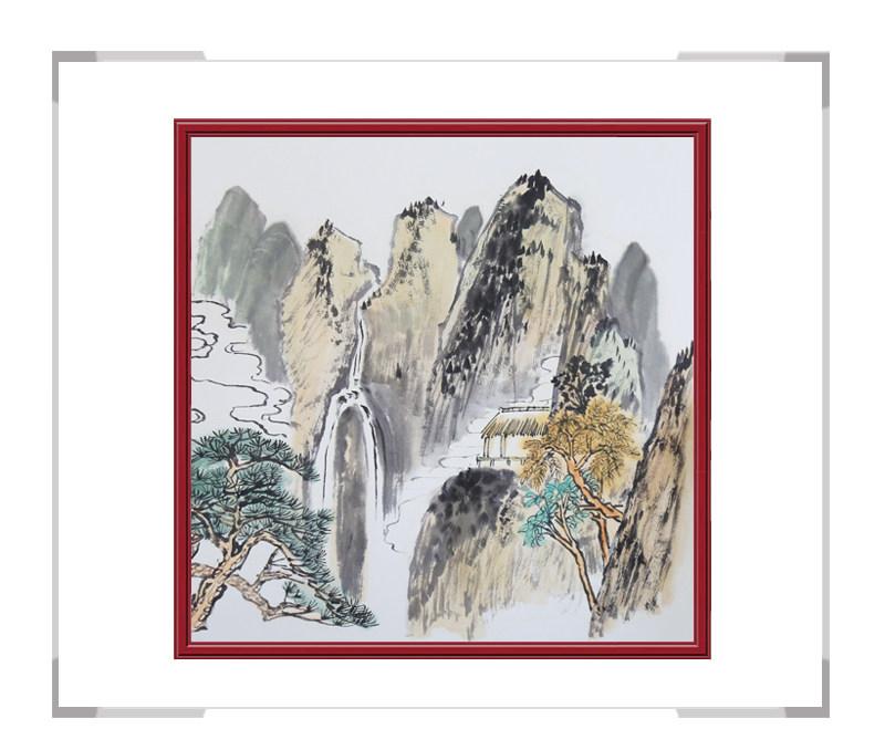 中国美协会员李任孚-山水斗方画第二款