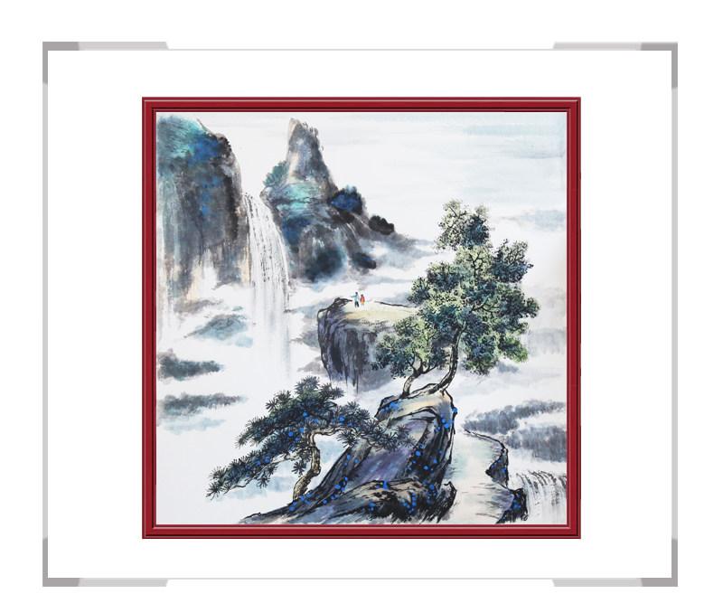 中国美协会员李任孚-山水斗方画第三款