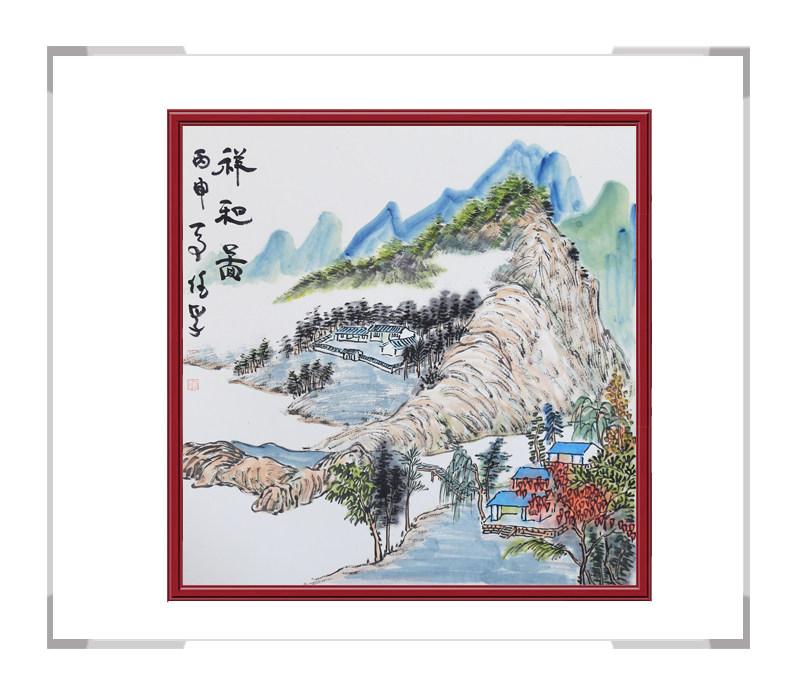 中国美协会员李任孚作品-山水斗方画第二款