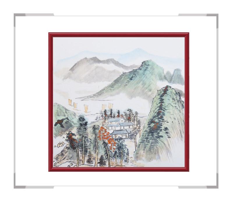 中国美协会员画家李任孚作品-斗方山水画第二款
