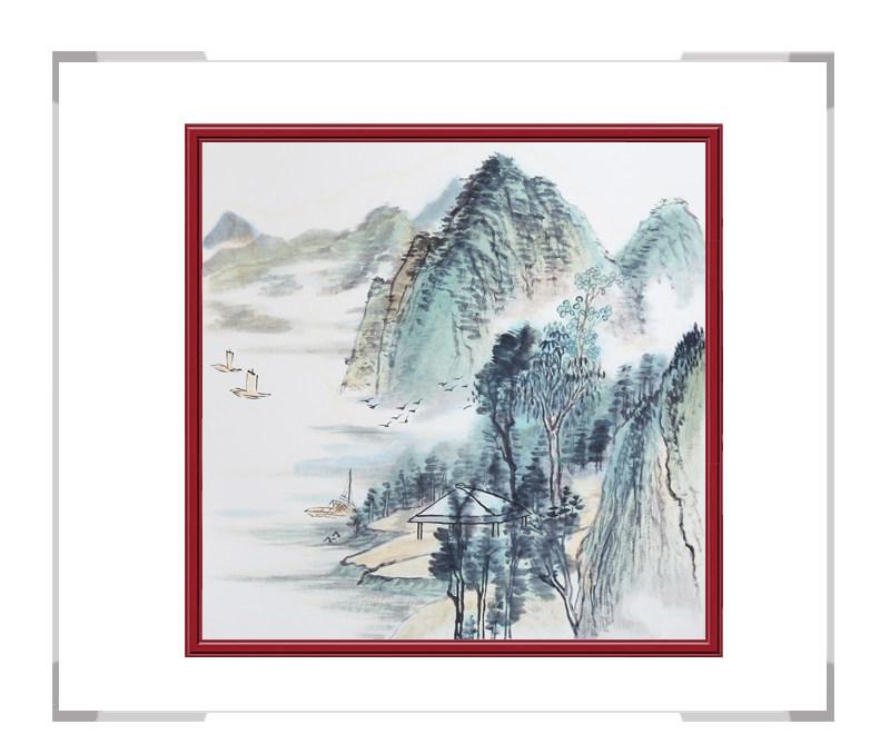 中国美协会员画家李任孚作品-斗方山水画第三款