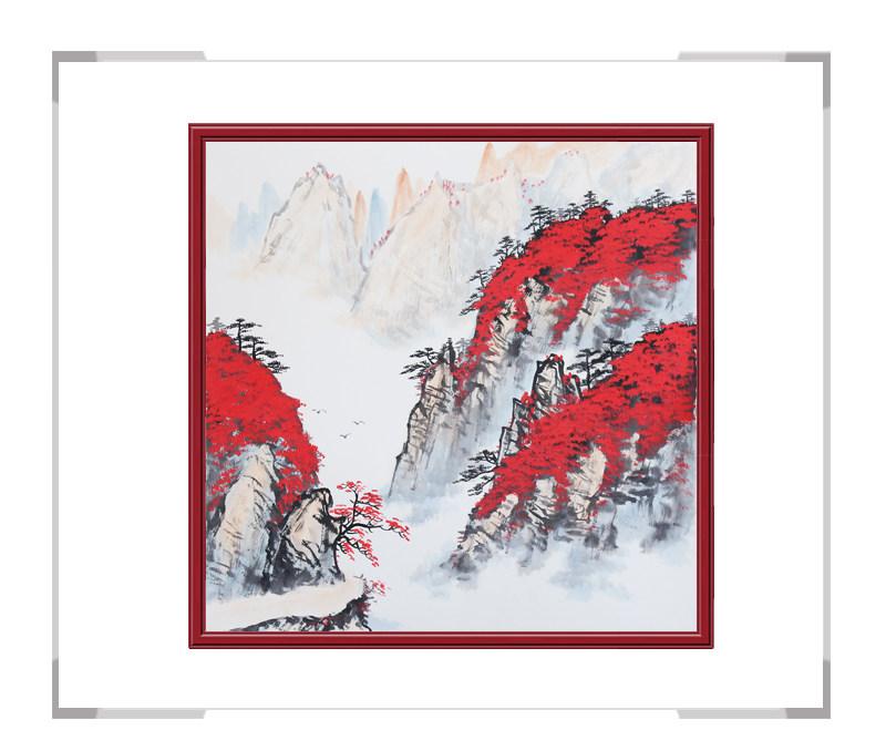 中国美协会员画家李任孚-山水斗方作品三