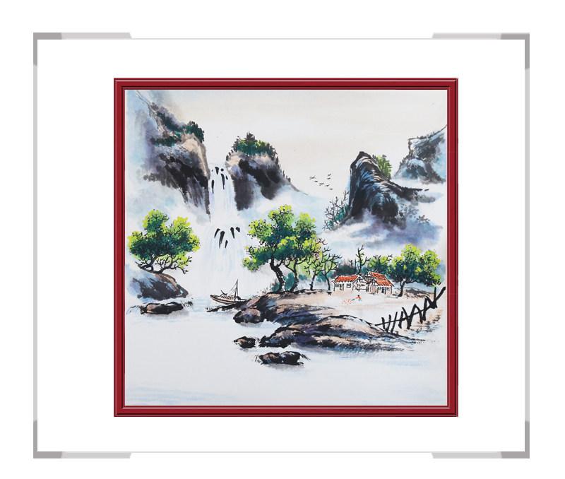 中国美协会员李任孚老师-斗方山水画第一款