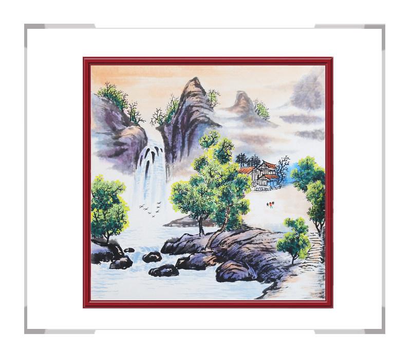 中国美协会员李任孚老师-斗方山水画第二款