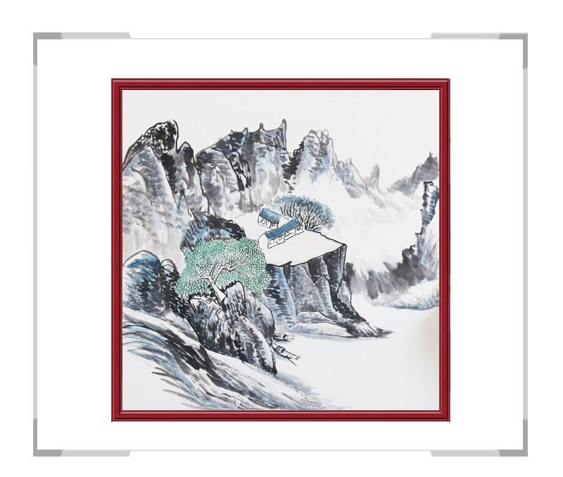 中国美协会员李任孚老师作品-斗方山水画第二款