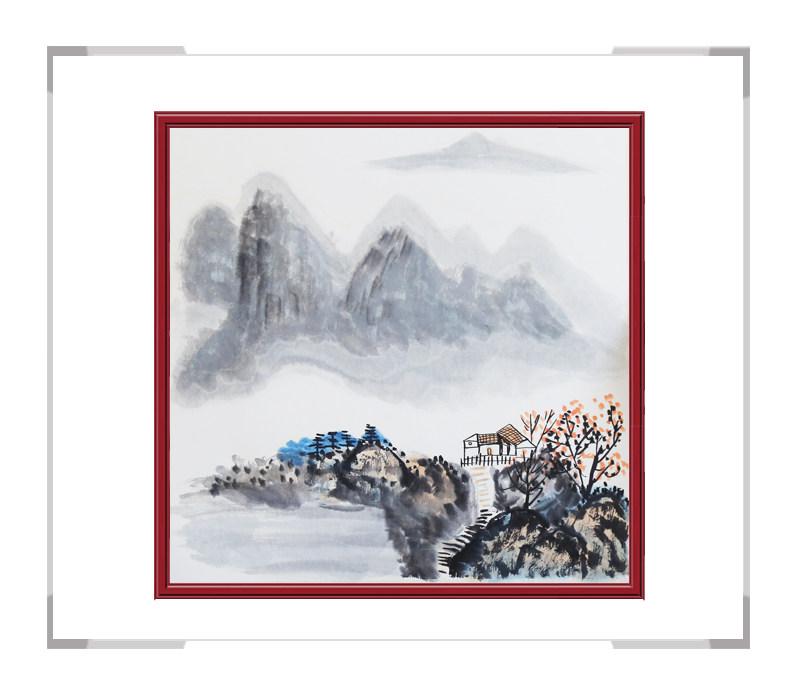 中国美协会员李任孚老师作品-斗方山水画第三款