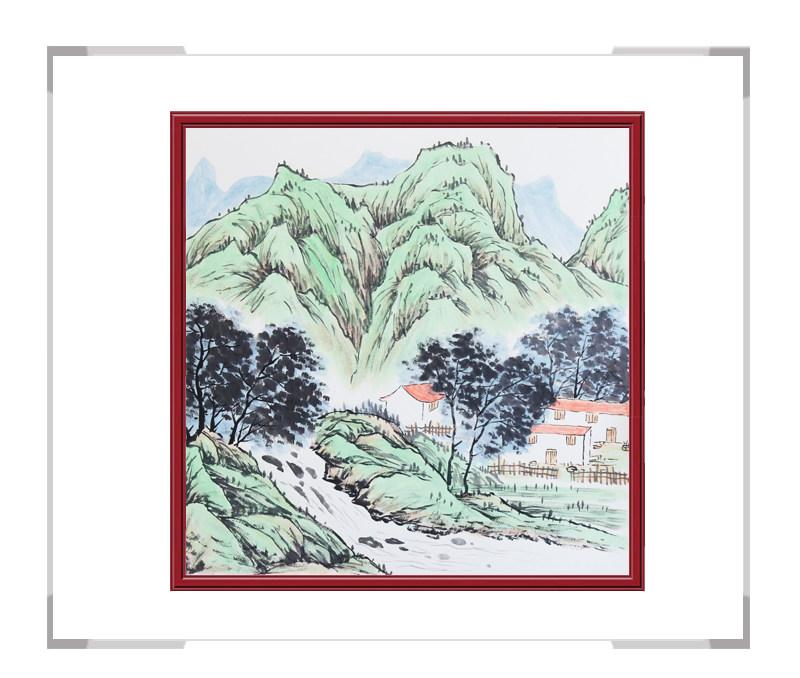 中国美协会员李任孚老师作品-山水斗方画第一款