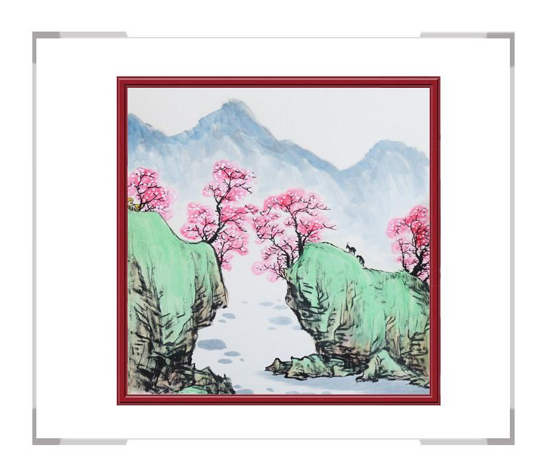 中国美协会员李任孚老师作品-山水斗方画第二款