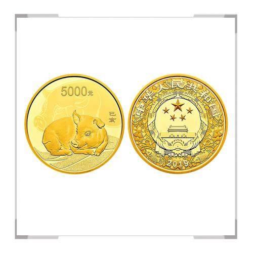 2019猪年生肖金银纪念币 500克金币