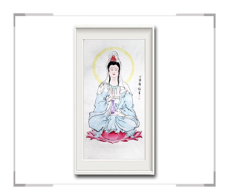 中国美术家协会会员李任孚-竖幅人物画菩萨二