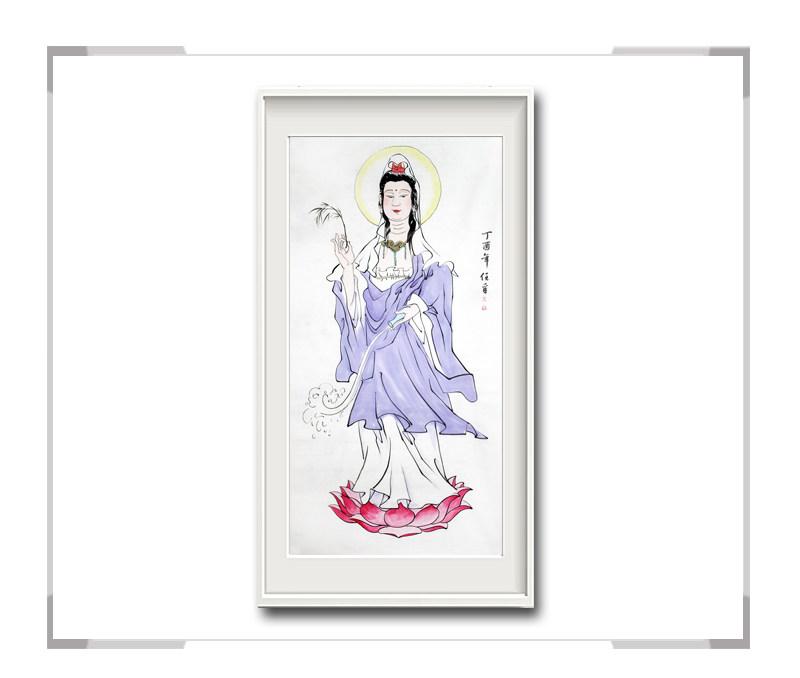 中国美术家协会会员李任孚-竖幅人物作品之菩萨二