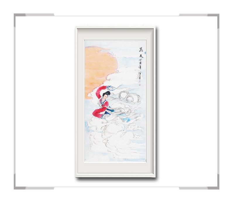 中国美术家协会会员李任孚-竖幅人物画之仙女一