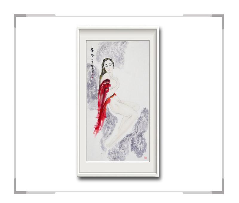 中国美术家协会会员李任孚-竖幅美人画作品二