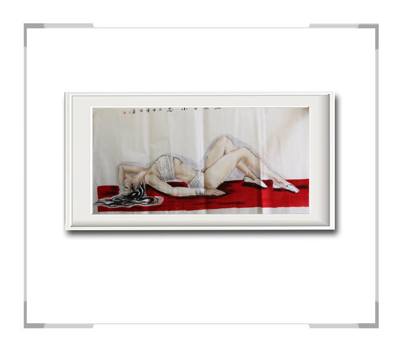 中国美术家协会会员李任孚-横幅美人画作品三绝代佳人