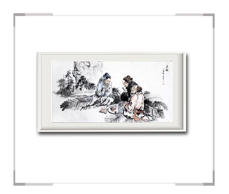 中国美术家协会会员李任孚作品-横幅人物画之一秋韵