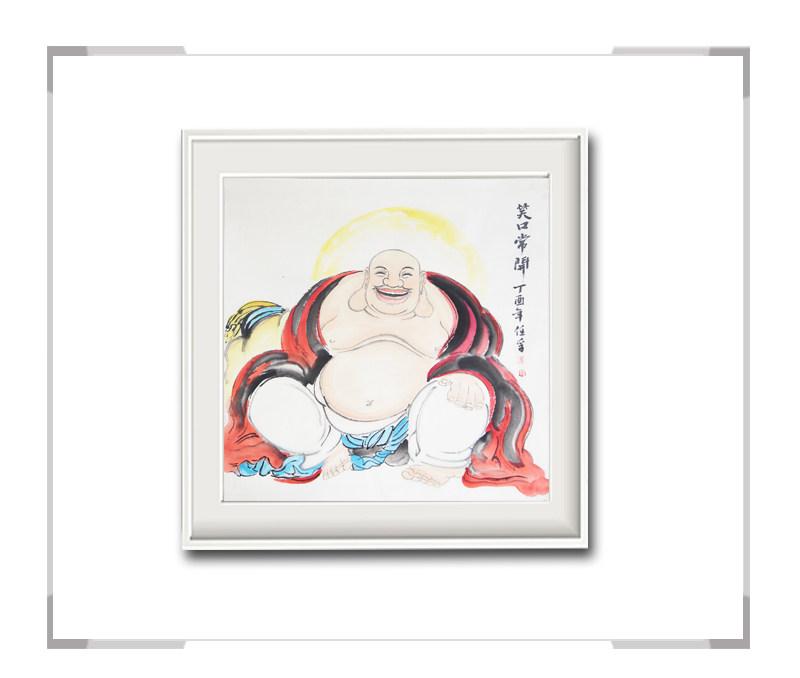 中国美术家协会会员李任孚作品-斗方人物画佛二