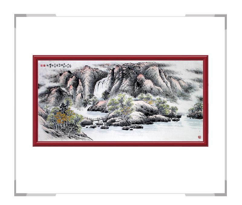 河北美术家协会会员李宗明-横幅山水画作品二苍山恋旧