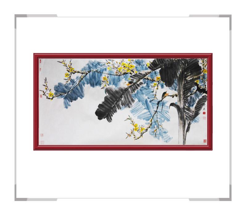 中国美术家协会会员刘晓东-横幅花鸟画作品一