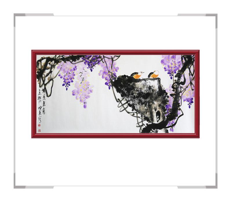中国美术家协会会员刘晓东作品-横幅花鸟画第一款