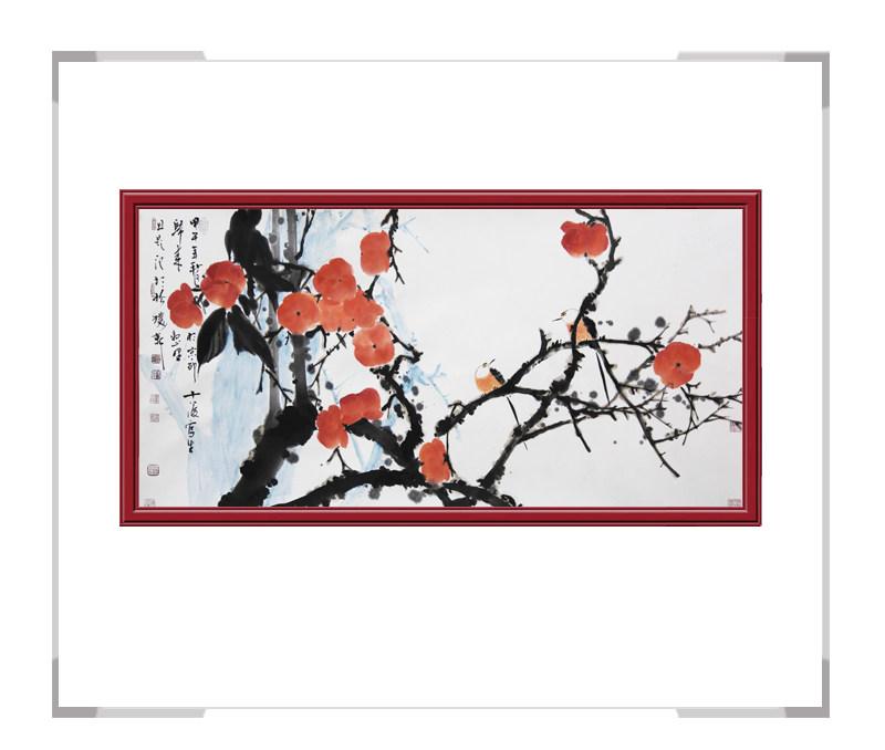 中国美术家协会会员刘晓东作品-横幅花鸟画第二款