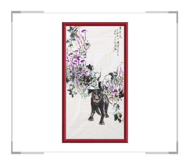 中国美术家协会会员刘晓东作品-竖幅花鸟画第一款