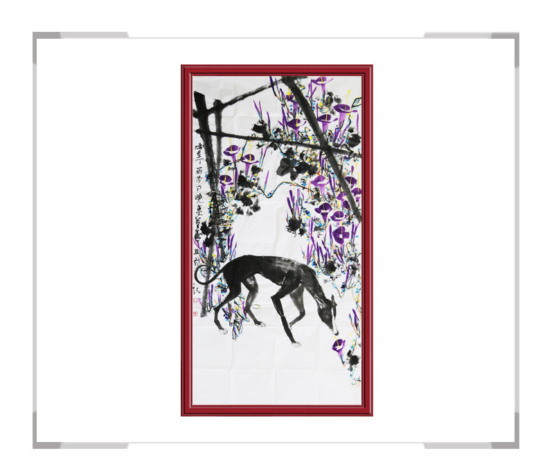 中国美术家协会会员刘晓东作品-竖幅花鸟画第二款