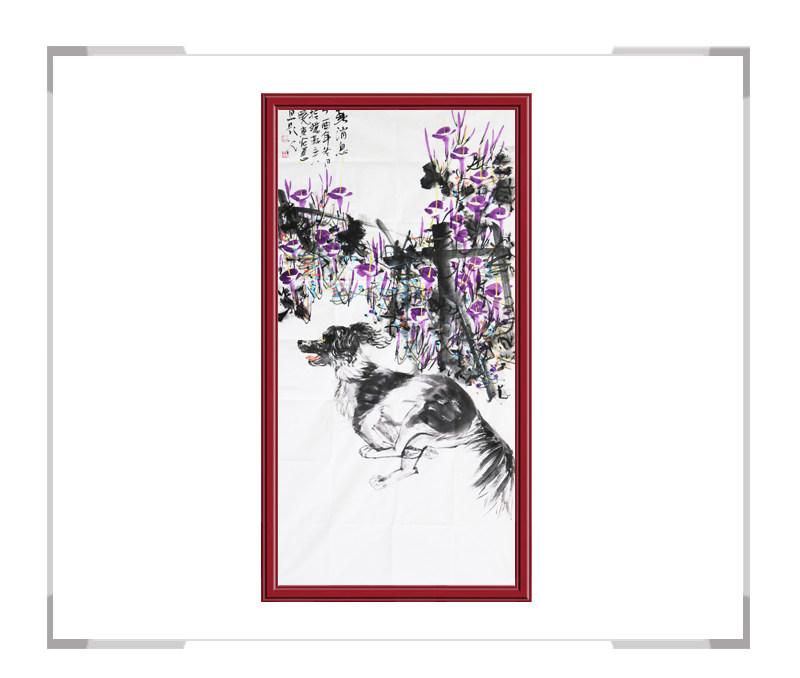 中国美术家协会会员刘晓东-竖幅花鸟作品一
