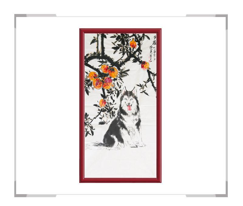 中国美术家协会会员刘晓东-竖幅花鸟作品二