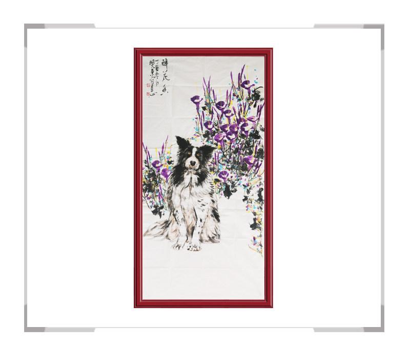 中国美术家协会刘晓东-竖幅花鸟画第一款