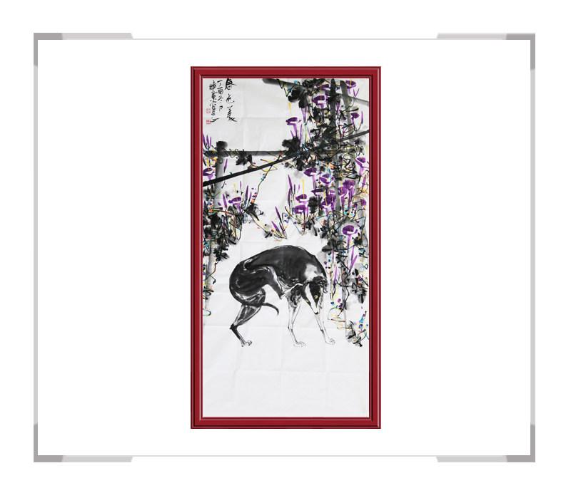 中国美术家协会刘晓东-竖幅花鸟画第二款