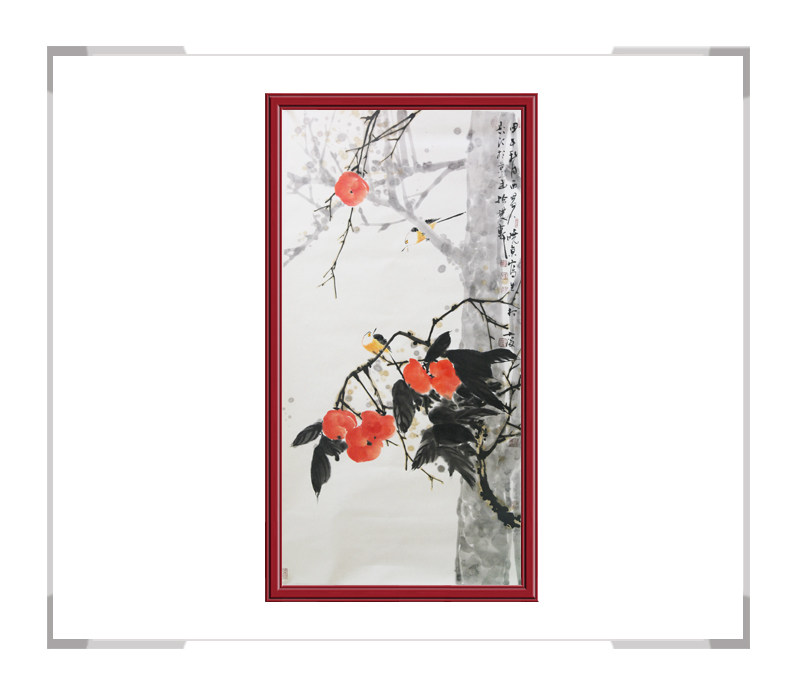 中国美术家协会刘晓东-竖幅花鸟画作品一