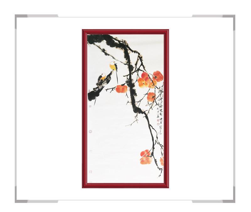 中国美术家协会会员刘晓东-竖幅花鸟画作品一