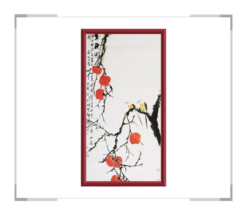 中国美术家协会会员刘晓东-竖幅花鸟画作品二