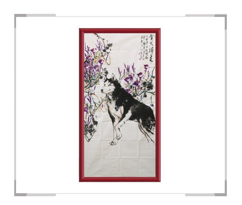 中国美术家协会会员刘晓东-花鸟竖幅作品一