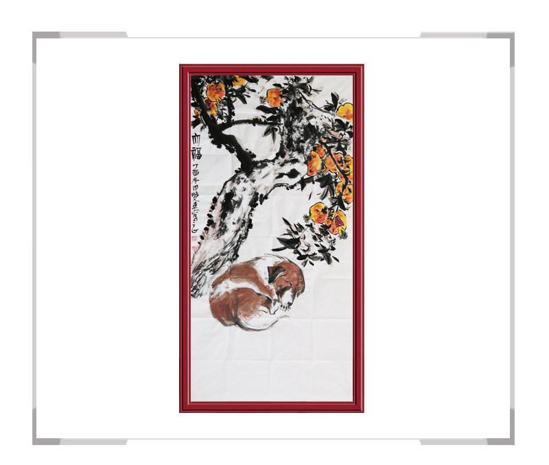 中国美术家协会会员刘晓东-花鸟竖幅作品二