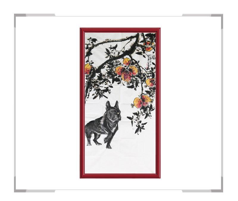 中国美术家协会会员画家刘晓东作品-竖幅花鸟画第一款