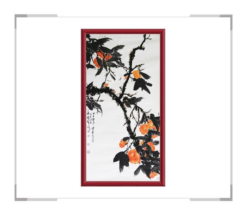 中国美术家协会会员画家刘晓东-竖幅花鸟作品一