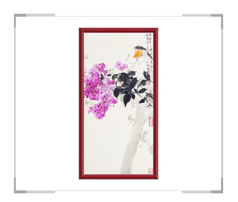 中国美术家协会画家刘晓东-竖幅花鸟画第二款