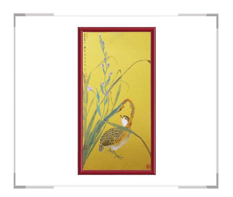 中国美术家协会画家刘晓东-竖幅花鸟画作品一
