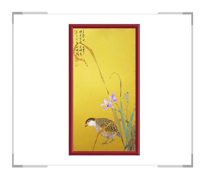 中国美术家协会画家刘晓东-竖幅花鸟画作品二